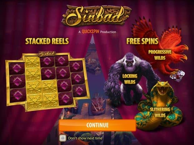 Sinbad Pokies Bonus