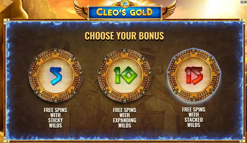 Cleo's Gold Free Spins