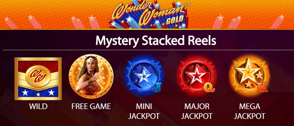 Wonder Woman Pokie Symbols