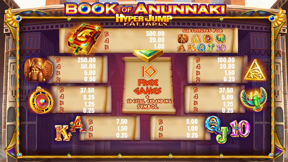 Book of Anunnaki Pokies