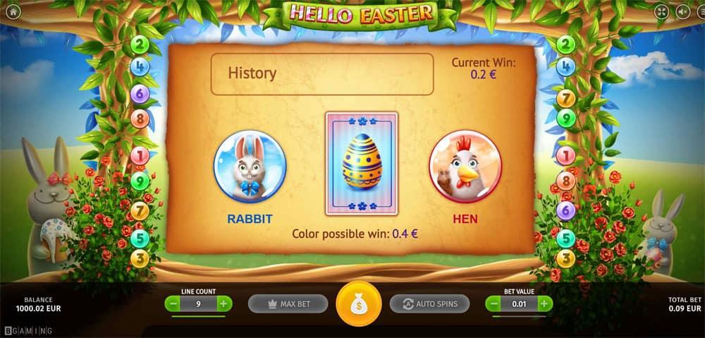 Hello Easter Gamble Bonus