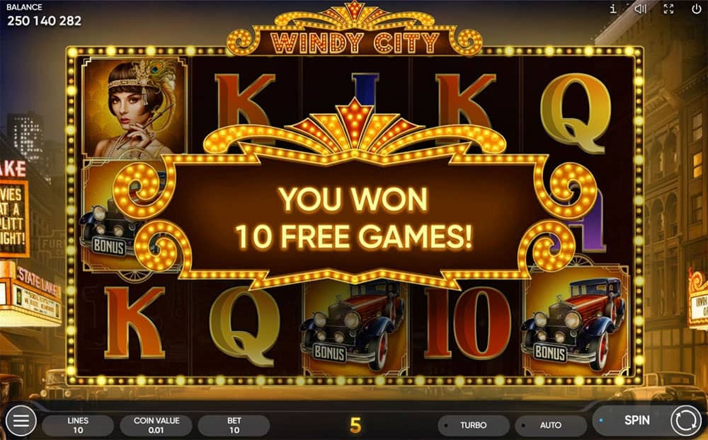 Windy City Slot Free Spins
