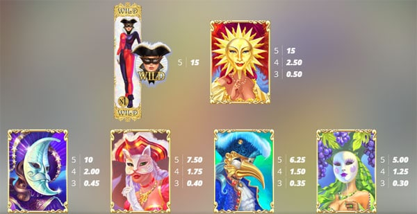 Harlequin Carnival Symbols