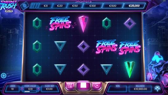 Neon Rush Pokies Free Spins