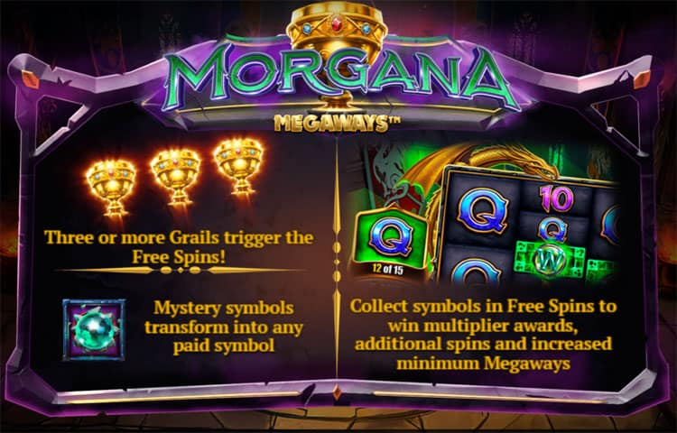 Morgana Megaways Pokie Bonus